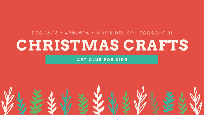Christmas Crafts Art Club for Kids